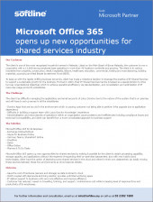 Microsoft Office 365 opens up new opportunities for shared services industry