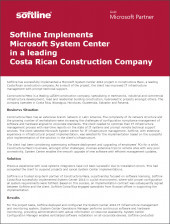 Softline Implements Microsoft System Center in a leading Costa Rican Construction Company