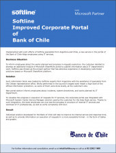 Softline Improved Corporate Portal of Bank of Chile