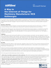 A Way to the Internet of Things for Machinery Manufacturer MCS Kollmorgen